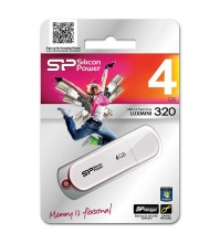 Память SiliconPower USB Flash  4GB USB2.0 Luxmini 320 белый