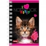 Записная книжка 40л. А7 на гребне I love kitty