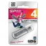Память SiliconPower USB Flash  4GB USB2.0 Ultima II Silver хром (металл.корпус)